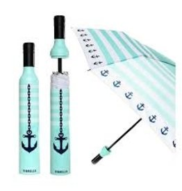 Vinrella Wine Bottle Umbrella - Seaside Anchor-lt turq