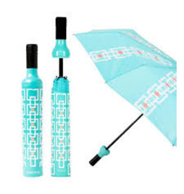 Vinrella Wine Bottle Umbrella - Turquoise