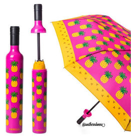 Vinrella Wine Bottle Umbrella - Pineappe-pink, orange