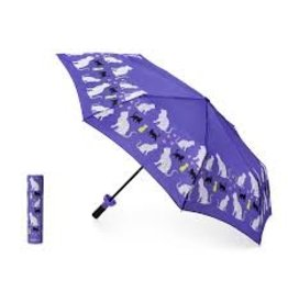 Vinrella Wine Bottle Umbrella - Purrfection Cat-purple