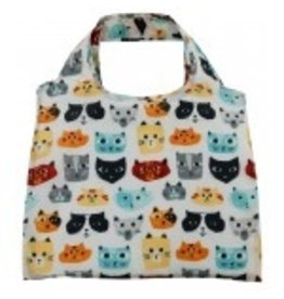 enVbags Reusable Bag with Zipper Pouch - Cats