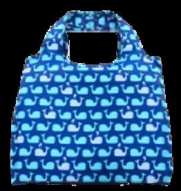enVbags Reusable Bag with Zipper Pouch - Whales disc