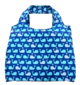 enVbags Reusable Bag with Zipper Pouch - Whales