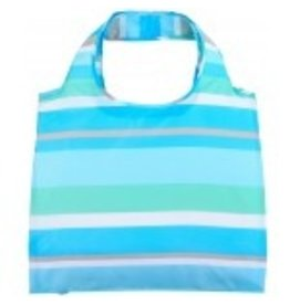 enVbags Reusable Bag with Zipper Pouch - Cabana Stripe