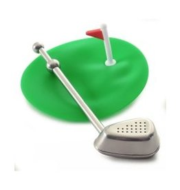 Norpro Golf Tea Strainer & Cover/Drip Catcher