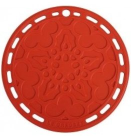 """Le Creuset French Silicone Trivet - Cerise Red 8"""""""