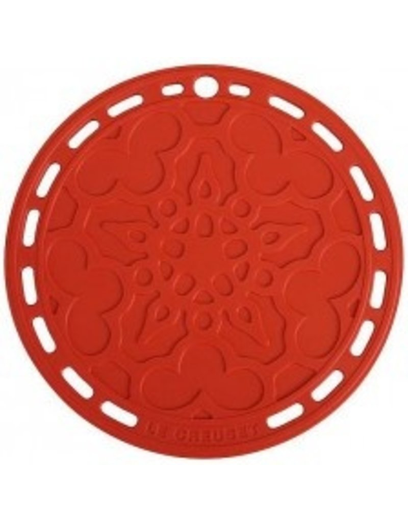 Le Creuset French Silicone Trivet - Cerise Red 8''