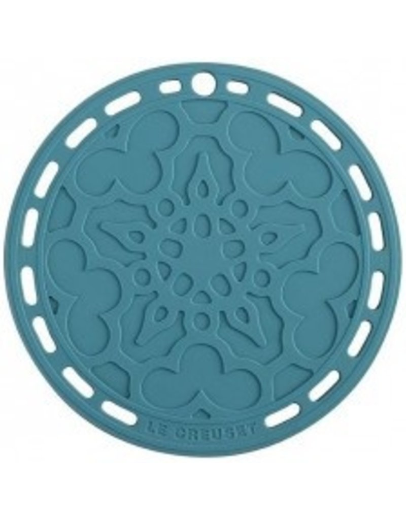 """Le Creuset French Silicone Trivet - Caribbean 8"""""""