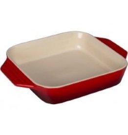 Le Creuset Stoneware Square Dish Cerise Red 2.2 Qt 9.5''
