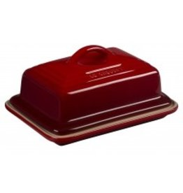 Le Creuset Heritage Butter Dish Cerise Red