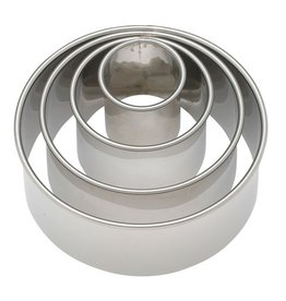 Harold Imports Ateco Graduated Round Biscuit Cutters Set of 4