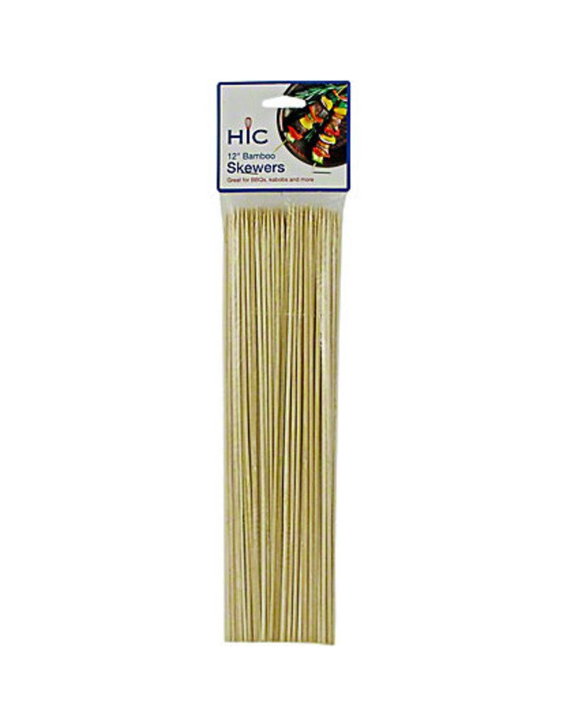 Harold Imports Bamboo Skewers 12''