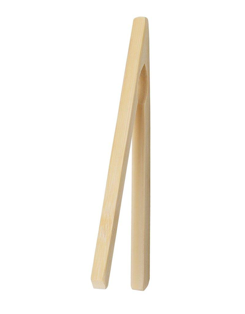 "Harold Imports Bamboo Toast Tongs 6.75"" disc"