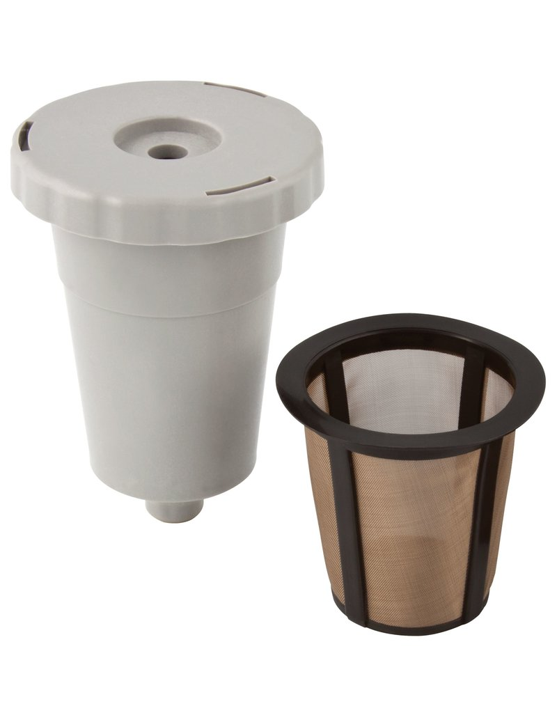 Harold Imports GoldTone 1-Kup Reusable Filter Starter Pack