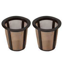 Harold Imports GoldTone 1-Kup Reusable Filters Set of 2