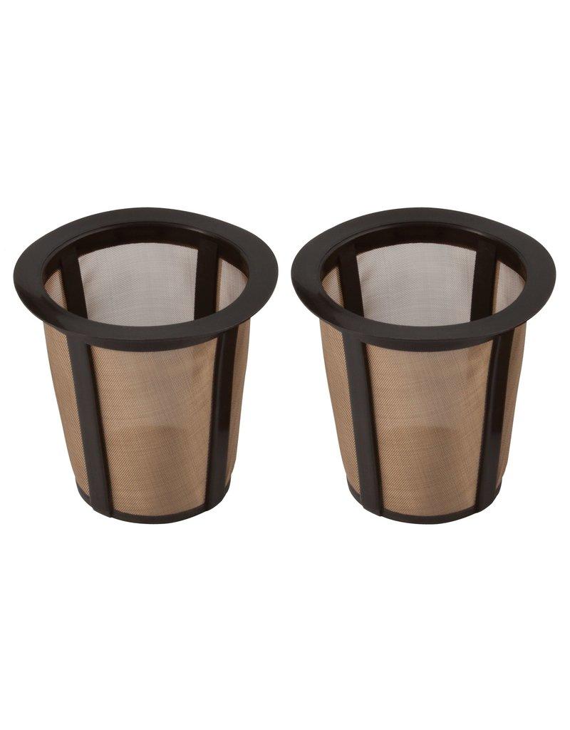 Harold Imports GoldTone 1-Kup Reusable Filters Set of 2