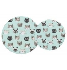 Now Designs Save-It Reusable Bowl Covers Cats Meow Set of 2