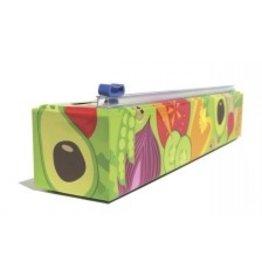"""Chic Wrap Plastic Wrap Dispenser, Veggie Design, 12""""x250'  cirr"""