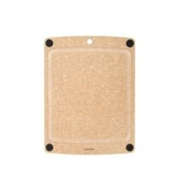 Epicurean Epicurean Board 11.5x9, Natural with Juice Groove and Brown Button Nonslip