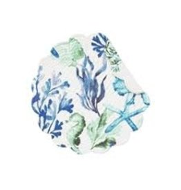 C and F Home Placemat Bluewater Bay, Round Reversible