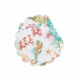 C and F Home Placemat Chandler Cove, Round Reversible