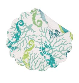 C and F Home Placemat Aquarius, Round Reversible