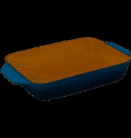 Le Creuset Stoneware Rect Dish Marine 3.15Qt 12.5x8.25