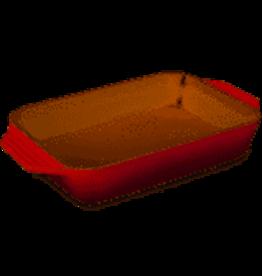 Le Creuset Stoneware Rect Dish Cerise Red 3.15Qt 12.5x8.25
