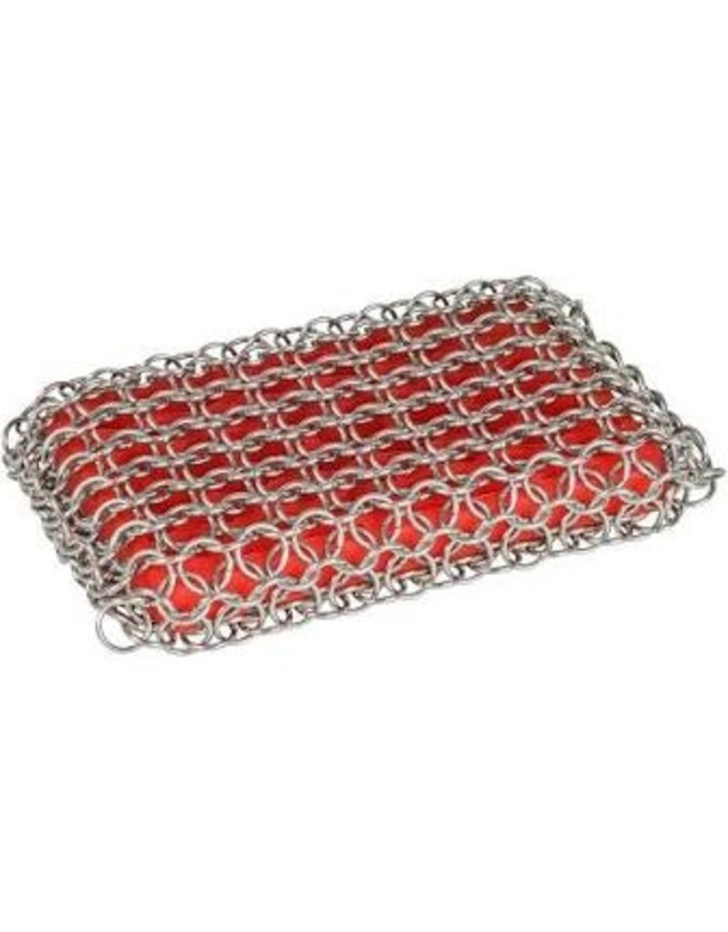 Lodge Cast Iron Chainmail Scrubbing Pad, Red