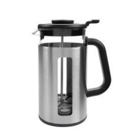 OXO Good Grips French Press Coffee Maker with GroundsKeeper, 8 Cup cirr disc