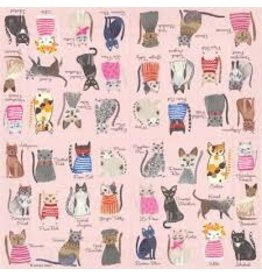 Boston International Cocktail Napkin, Cool Cats