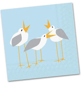 Boston International Cocktail Napkin, Seagulls