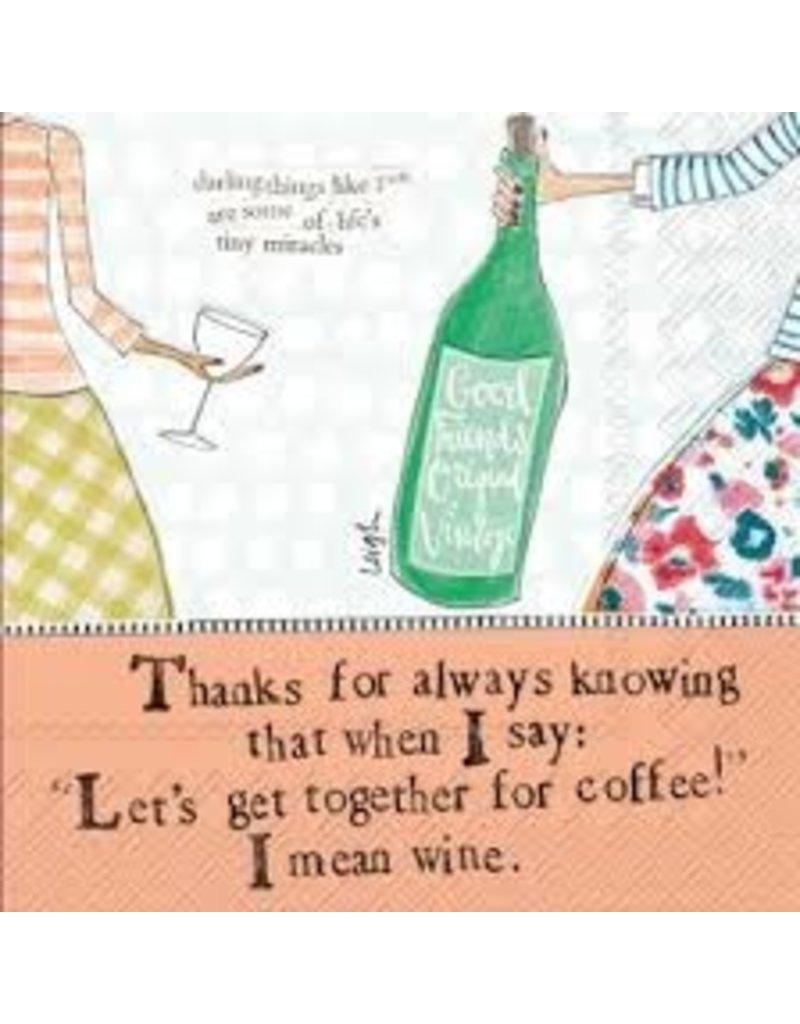 Boston International Cocktail Napkins, Coffee and Wine, 20x