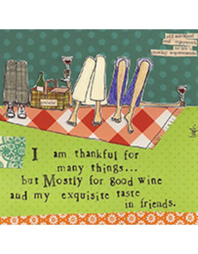 Boston International Cocktail Napkin, Thankful