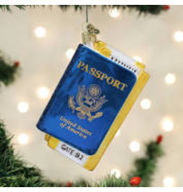 Old World Christmas Passport Ornament DISC