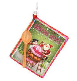 Bronners Ornament, Cookbook Santa DISC