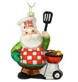 Bronners Ornament, BBQ King Santa DISC