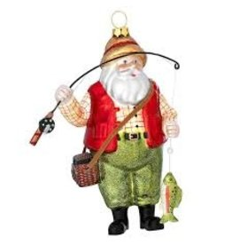 Bronners Ornament, Santa Fishing