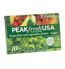 Harold Imports PeakFresh Reusable Produce Bags Set of 10