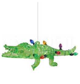 Bronners Ornament, Alligator with Lights