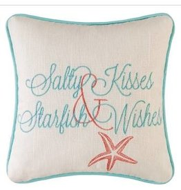 C and F Home Pillow Salty Kisses Starfish Wishes