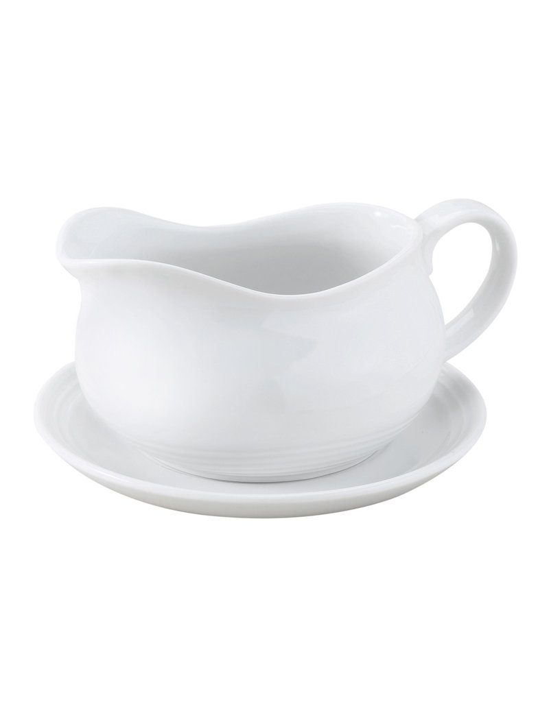 Harold Imports Porcelain Gravy Boat w Saucer