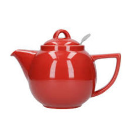Now Designs Teapot with Filter, Red Geo 2 Cup