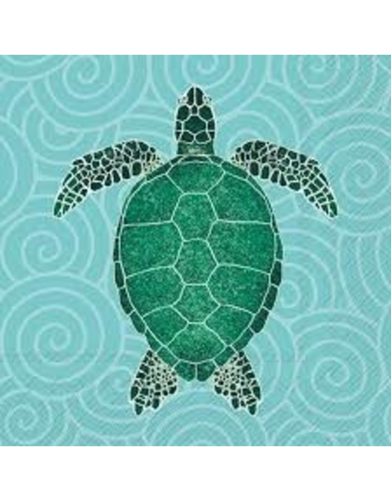 Boston International Cocktail Napkin, Sea Turtle