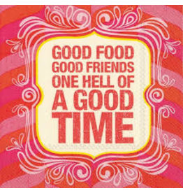 Boston International Cocktail Napkin, Good Friends Good Times DISC