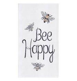 C and F Home Towel Bee Happy, floursack