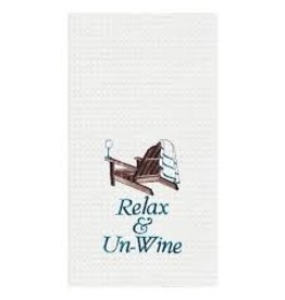 C and F Home Towel Relax & Un-Wine, waffle weave