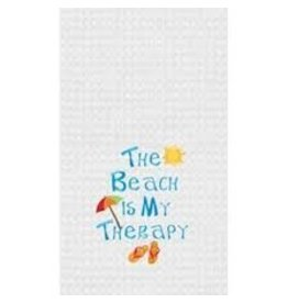 C and F Home Towel Beach Is My Therapy, waffle weave