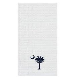 C and F Home Towel Palmetto Moon, waffle weave