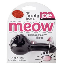 Harold Imports Joie Meow Measuring Spoons WHITE